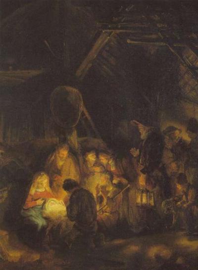 The Sheperds Worship the Child image