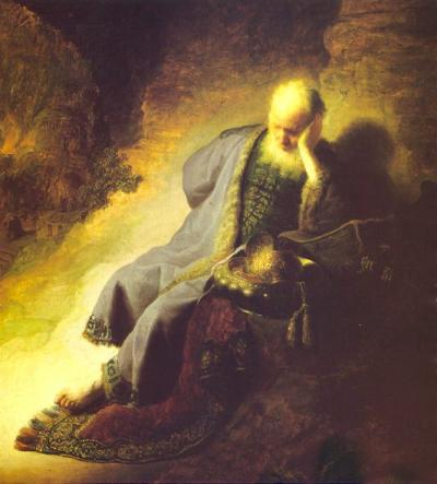 Jeremiah laments the devastation of Jerusalem image